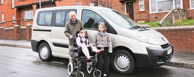 Charles Davies wheelchair car