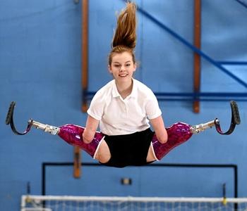 Isabelle W mid air jump